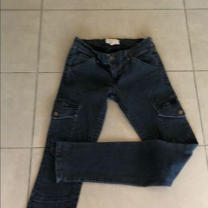 Current Elliot faded black jean